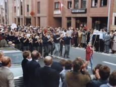 Umzug 1983 zum 100jährigen Bestehen der Städt. Kapelle Ahaus